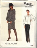 Vogue 1142 Givenchy Top Skirt Sewing Pattern