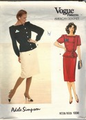 Vogue 1330 Adele Simpson Top Skirt Sewing Pattern