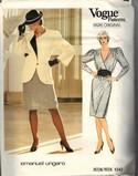 Vogue 1343 Emanuel Ungaro Dress Jacket Pattern UNCUT
