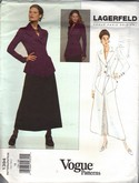 Vogue 1394 Karl Lagerfeld Jacket Skirt Pattern UNCUT