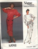 Vogue 1510 Kasper Ruffled Wrap Dress Pattern UNCUT