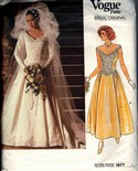 Vogue 1677 Bridal Original Gown Pattern UNCUT
