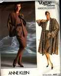 Vogue 1915 Anne Klein Jacket Coat Skirt Top Pattern UNCUT