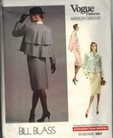 Vogue 1957 Bill Blass Suit Sewing Pattern Uncut