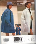 Vogue 2958 DKNY Donna Karan XL Jacket Pattern UNCUT