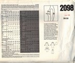 Vogue 2098 Body Fitting Guide Pattern UNCUT Size 12