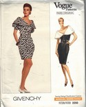 Givenchy 2250 Dress Pattern Big Collar UNCUT