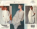 Vogue 2620 Betty Jackson Shirt Pattern 6-8-10 UNCUT