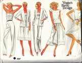 Vogue 2687 Basic Design Summer Wardrobe Pattern UNCUT Size 12