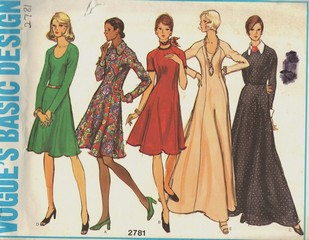 Vogue 2781 Basic Design Vintage Dress Pattern