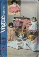 Vogue 2868 Baby Doll Wardrobe Pattern UNCUT
