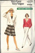 Vogue 7173 Shorts Pants Jacket Pattern UNCUT
