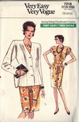 Vogue 7219 Jacket and Dress Pattern UNCUT