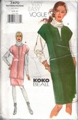 Vogue 7470 Koko Beal Tunic Jumper Pattern UNCUT