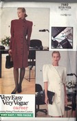Vogue 7582 Sheath Career Dress Pattern 14-16-18 UNCUT