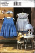 Vogue 7716 Infants Dress, Hat Bloomers Pattern UNCUT
