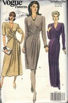 Vogue 7939 Draped Front Dress Pattern UNCUT