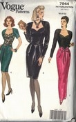Vogue 7944 Evening Dress Pattern LARGE
