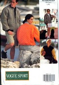 Vogue Sport 8333 Unisex Jacket Pattern