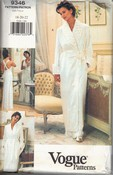 Vogue 9346 Robe Nightgown Pattern