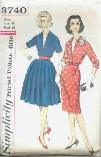 Simplicity 3740 Vintage Dress Pattern Size 16 Uncut [101193740 ...