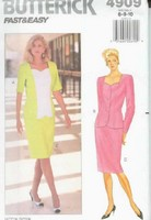 Butterick 4909 Dress and Top Sewing Pattern UNCUT