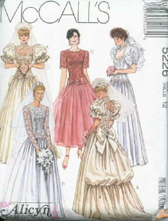Alicyn Exclusives Bridal Bridesmaid's Pattern 5226 Size 12