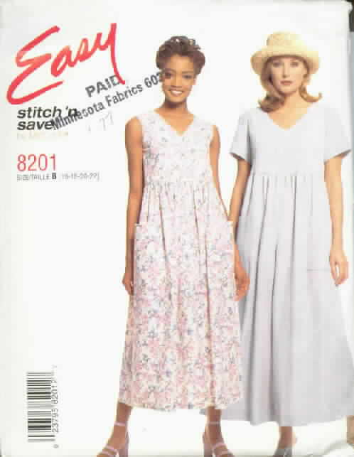 McCalls 8201 Summer Dress Jumpsuit Pattern UNCUT