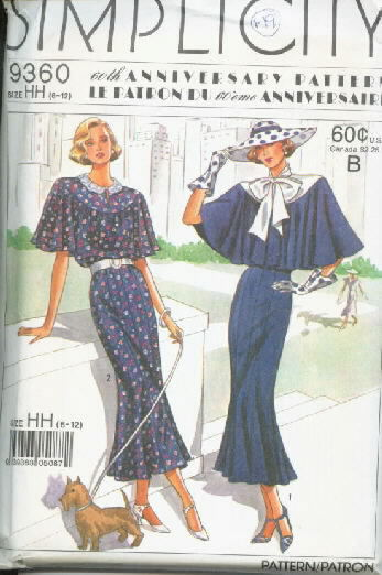 Simplicity 9360 Retro Dress 60th Anniversary Pattern