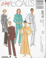 McCalls 6979 Asian Style Robe Pajamas Sewing Pattern UNCUT