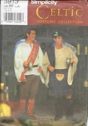 Simplicity 8913 Celtic Men's Costume Kilt UNCUT