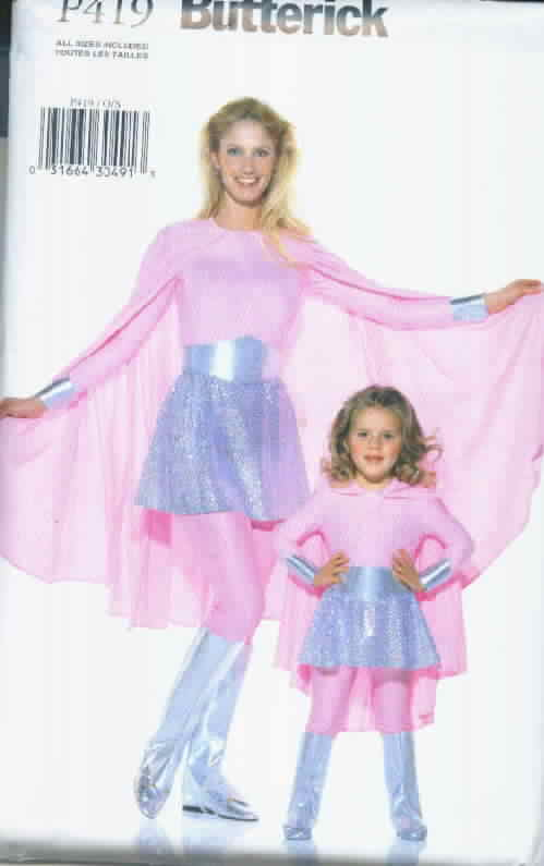 Butterick P419 Mother Daughter Superhero Costume
