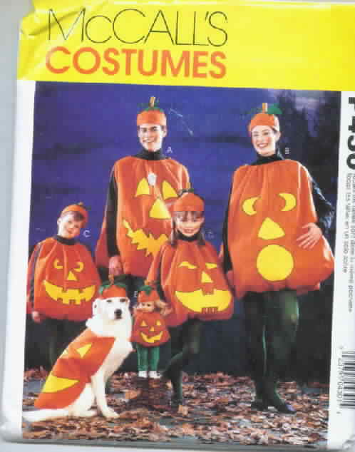 McCall's P430 Pumpkin Costume Entire Family Doll Dog
