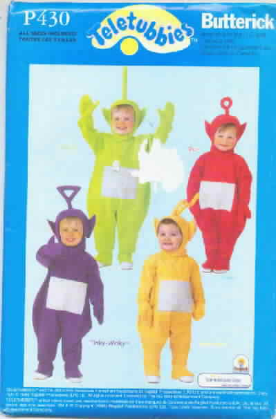 Butterick P430 Teletubbies Toddler Costume Pattern
