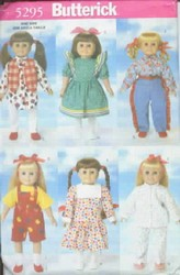 Butterick 5295 Pattern 18 Inch Doll Wardrobe