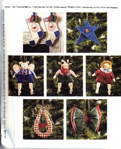 McCall's 6664 Country Critter Christmas Pattern - Uncut