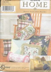 Simplicity 9683 Design Your Own Pillows Sewing Pattern UNCUT