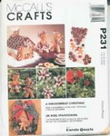 McCall's P231 Crafts Gingerbread Christmas UNCUT
