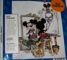 Disney Mickey Mouse Walt Self Portrait Cross Stitch Kit
